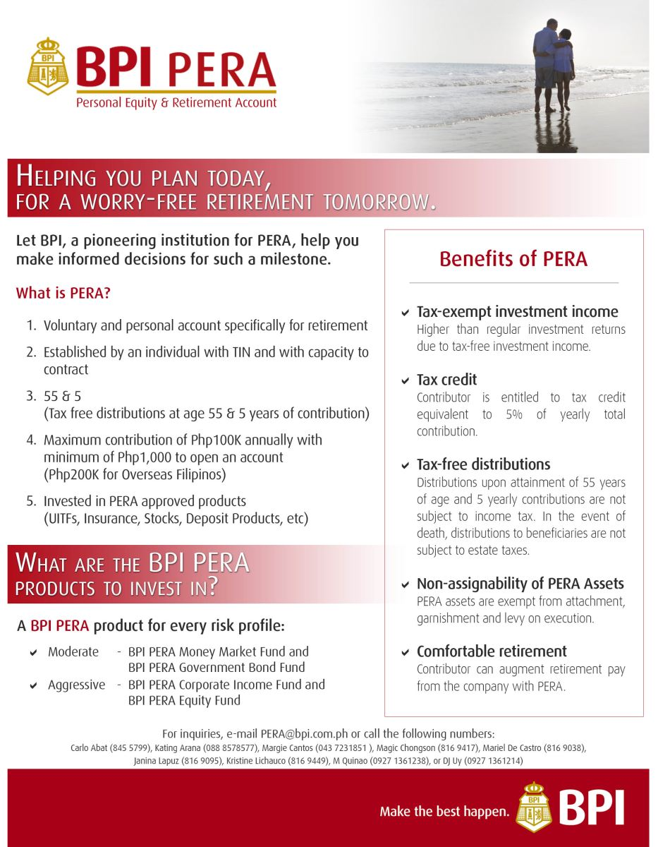 Pera Personal Equity Retirement Account