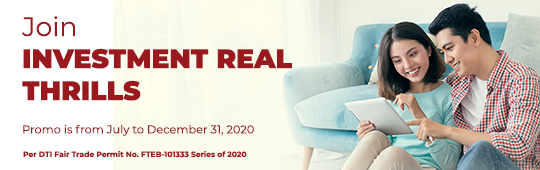 2020 Investment Real Thrills - Instant Rewards Promo