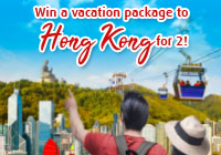 FUNd and ADVENTURE Travel Promo Trip to Hong Kong for 2!